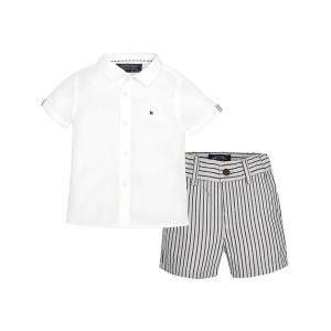 23e3d787586 Ленени къси панталони с ризка Mayoral, момче, цвят 60, 6 м., ръст 68 см.