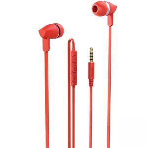 Слушалки с микрофон HAMA Basic+, In-Ear, Червени, HAMA-137442