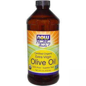 Зехтин - Olive Oil Organic Extra Virgin - 473 мл. - NOW FOODS, NF1830