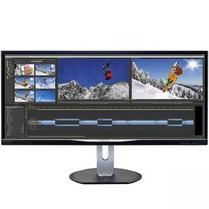 Монитор Philips, 34 инча Ultra Wide QHD 3440 x 1440, AH-IPS, DVI, VGA, HDMI, Черен, BDM3470UP