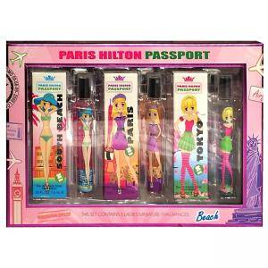 Комплект Парфюми Paris Hilton Passport, 3броя x7.5мл, Tokyо,Paris,South Beach, 5055193523176