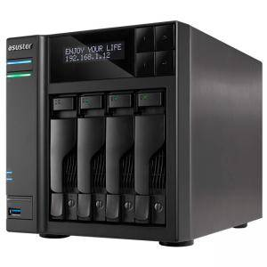 Мрежов сторидж Asustor AS6404T, 4-Bay NAS, Intel Apollo Lake Quad-Core, 8 GB SO-DIMM DDR3L, GbE x 2, USB 3.0 x 4 (Type A x3, Type C x1), WOW