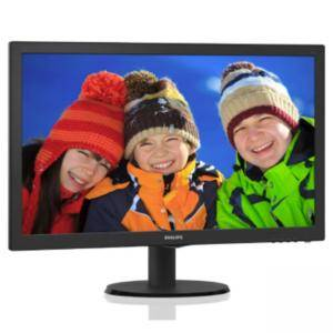 Монитор Philips 243V5LSB5, 23.6 инча, LED TN, 1920x1080, 5ms, 243V5LSB5/00