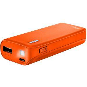 Зарядно устройство TRUST Primo Power Bank 4400 Portable Charger - Orange, 22061