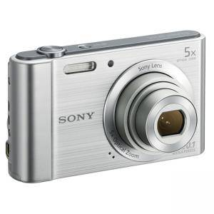 Цифров фотоапарат Sony Cyber Shot DSC-W800 silver + Transcend 8GB micro SDHC UHS-I Premium (with adapter, Class 10), DSCW800S.CE3_TS8GUSDU1