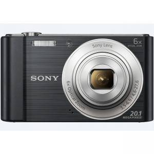 Цифров фотоапарат Sony Cyber Shot DSC-W810 black + Transcend 8GB micro SDHC UHS-I Premium (with adapter, Class 10), DSCW810B.CE3_TS8GUSDU1