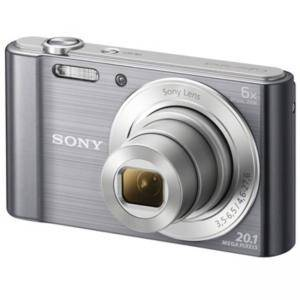 Цифров фотоапарат Sony Cyber Shot DSC-W810 silver + Transcend 8GB micro SDHC UHS-I Premium (with adapter, Class 10), DSCW810S.CE3_TS8GUSDU1
