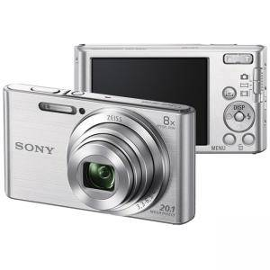 Цифров фотоапарат Sony Cyber Shot DSC-W830 silver + Transcend 8GB micro SDHC UHS-I Premium (with adapter, Class 10), DSCW830S.CE3_TS8GUSDU1