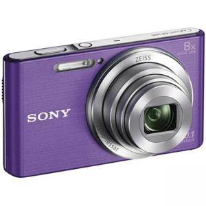 Цифров фотоапарат Sony Cyber Shot DSC-W830 violet + Transcend 8GB micro SDHC UHS-I Premium (with adapter, Class 10), DSCW830V.CE3_TS8GUSDU1