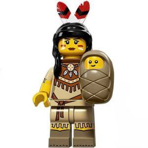 Идентифицирана минифигурка Лего Серия 15 - Lego series 15 - Tribal woman, 71011-5