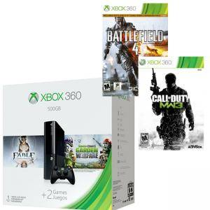 Конзола Microsoft Xbox 360 500GB + Plants vs Zombies + Fable Anniversary + Call of Duty Modern Warfare 3 + Battlefield 4