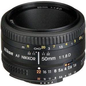 Обектив, Nikon, AF Nikkor 50mm f/1.8D Lens for DSLR Cameras