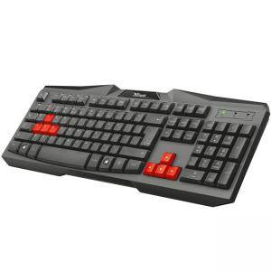 Клавиатура TRUST Ziva Gaming Keyboard, USB, Black, 1.50m cable, 21954