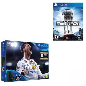Комплект Конзола Sony PS4 500 GB FIFA 18 Bundle with FIFA 18 Ultimate Team Icons and Rare Player Pack(Slim Version)