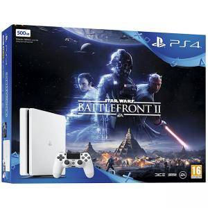 Конзолола Sony PlayStation 4 500 GB White Star Wars Battlefront II Bundle