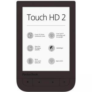 eBook Четец POCKETBOOK TOUCH HD2 6 инча PB631-2 , Тъмнокафяв, SMARTLIGHT Технология, POCKET-BOOK-PB631-2-X-WW