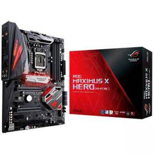 Дънна платка ASUS ROG MAXIMUS X HERO (Wi-Fi AC), Socket 1151 (300 Series), 4xDDR4, Intel Optane, ASUS-MB-MAXIMUS-X-HERO-WIFI