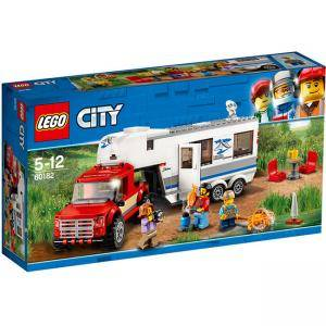Конструктор ЛЕГО СИТИ - Пикап и каравана - LEGO City Great Vehicles, 60182