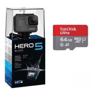 Видеокамера GoPro HERO5 Black Action Camera (12 Megapixels), Сив