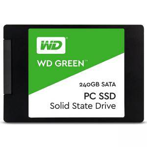 Твърд диск Solid State Drive SSD WD Green, 240GB, 2.5 инча, Зелен, WD-SSD-240GB-Green