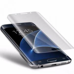 Стъклен протектор за Samsung Galaxy S9 S7 S8 Note8 3D Curved Glass Tempered Screen Protector Film, Черен, Galaxy S9 S7 S8 Protector