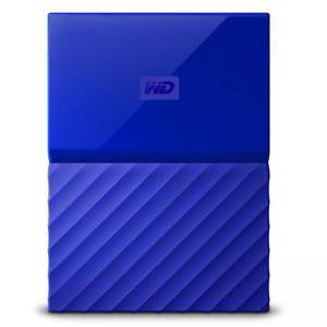 Външен твърд диск HDD 2TB USB 3.0 MyPassport (THIN) Син, WDBS4B0020BBL