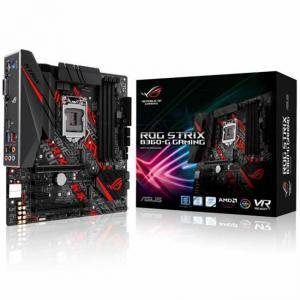 Дънна платка ASUS ROG STRIX B360-G GAMING, Socket 1151 (300 Series), Aura Sync, 4 x DDR4, ASUS-MB-STRIX-B360G-GAMING