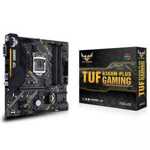 Дънна платка ASUS TUF B360M-PLUS GAMING, Socket 1151 (300 Series), Aura Sync, 4 x DDR4, ASUS-MB-TUF-B360M-PLUS-GAMING
