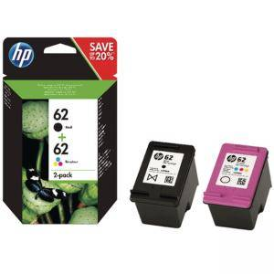 комплект мастилници HP 62 Combo 2-Pack Original Ink Cartridge, Black/Tri-color,  Page Yield 200/165, HP ENVY 5642/5644/5744/5646/5540, N9J71AE