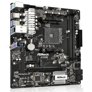 Дънна платка ASROCK A320M, AM4, Windows 10 64-bit
