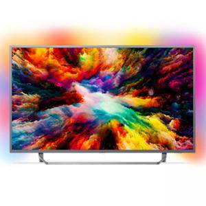Телевизор Philips 65 UHD, DVB T/C/T2/T2-HD/S/S2, Android TV, Ambilight 3, HDR+, Perfect Picture, Quad core, 1600 PPI, 16 GB, 65PUS7303/12