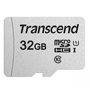 Памет Transcend 32GB microSDHC I, Class 10, U1 UHS-I (No Adapter), read: up to 95MBs, 45MB/s, TS32GUSD300S