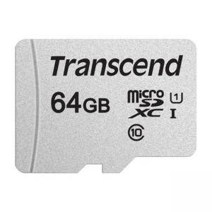 Карта памет Transcend 64GB microSDXC I, Class 10, U1 UHS-I (No Adapter), read: up to 95MBs, 45MB/s, TS64GUSD300S