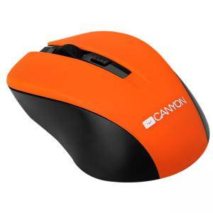Мишка CANYON Mouse CNE-CMSW1(Wireless, Optical 800/1000/1200 dpi, 4 btn, USB, power saving button), Orange, CNE-CMSW1O