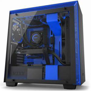Кутия NZXT H700i Smart Mid-Tower, Black/Blue, NZXT-CASE-H700W-BL