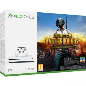 Конзола Xbox One S 1TB, Бяла + Playerunknown`s Battleground, PUBG