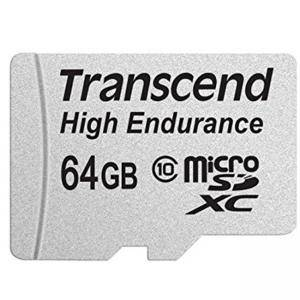 Карта памет Transcend 64GB USD Card (Class 10) Video Recording, TS64GUSDXC10V