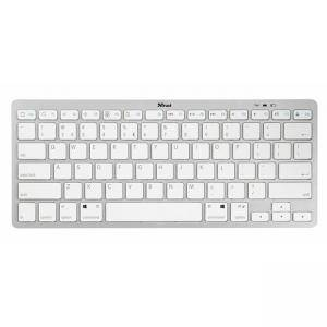 Безжична клавиатура TRUST Nado Wireless Bluetooth Keyboard, Бяла, 22242