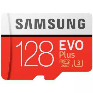 Карта памет Samsung MicroSD card EVO+ series with Adapter, 128GB , Class10, UHS-1 Grade3 , Speed Read 100MB/s,Speed Write 90MB/s, MB-MC128GA/EU