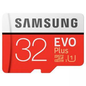 Карта памет Samsung MicroSD card EVO+ series with Adapter, 32GB , Class10, UHS-1 Grade1 , Speed Read 95MB/s,Speed Write 20MB/s, MB-MC32GA/EU