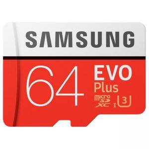 Карта памет Samsung MicroSD card EVO+ series with Adapter, 64GB , Class10, UHS-1 Grade3 , Speed Read 100MB/s,Speed Write 60MB/s, MB-MC64GA/EU