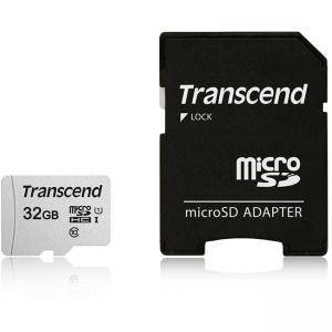 Карта памет Transcend 32GB UHS-I U1 microSDHC I, Class10 with Adapter, read: up to 95MBs, 45MB/s, TS32GUSD300S-A