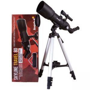 Рефракторен телескоп Levenhuk Skyline Travel 80 Telescope, 72053