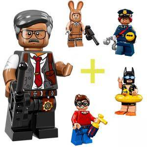 ФИЛМЪТ LEGO БАТМАН идентифицирана минифигурка - Комисар Гордон, LEGO Batman Movie - Commissioner Gordon, 71017-7