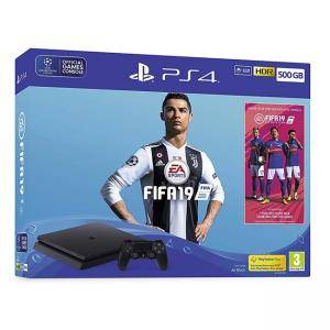 Конзола Playstation 500GB FIFA 19 Bundle with Ultimate Team Icons and Rare Player Pack (PS4)
