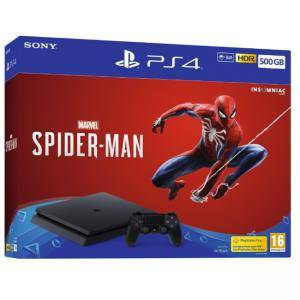 КОНЗОЛА SONY PS4 500GB CONSOLE + MARVEL'S SPIDER-MAN BUNDLE - BLACK