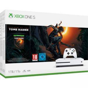 Конзола Microsoft Xbox One S 1TB Game Console +Shadow of the Tomb Raider