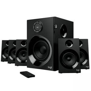 Тонколони Logitech Z607 5.1 Surround Sound, 32GB SDHC, MP3, WMA, WAV, APE, FLAC, Bluetooth, 55W RMS, 25W RMS, Черни, 980-001316
