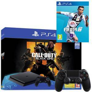 Конзола Sony PS4 500GB Console & Call of Duty: Black Ops 4 Bundle + Игра FIFA 19 за PlayStation 4 - PS4 + Геймпад - Sony PlayStation DualShock 4