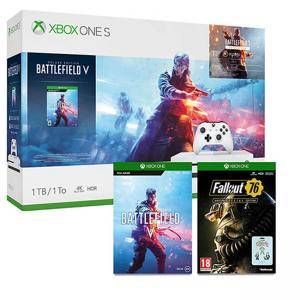Конзола Xbox One S 1TB Battlefield V console + Spyro Trilogy Reignited + Fallout 76: S.C.L. Edition